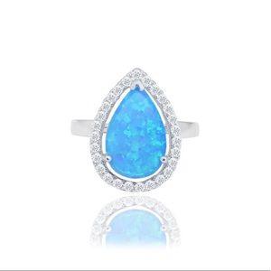 Luxury Opal Halo Ring